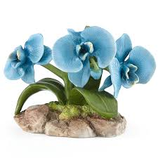 blue orchid flower blue orchid flower figurine flowers