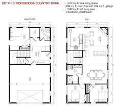 Ponderosa Floor Plan Pre Designed Wood Barn Home Horse Barns U0026 Gambrel Kits Sand