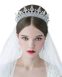 headpiece jewelry sweetv royal wedding crown cz pageant tiara