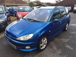 2004 04 peugeot 206 sw 1 6 xsi estate metallic blue great