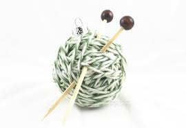 yarn ball ornament christmas tree gift idea for knitters