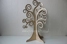 Birthday Wish Tree Large Wooden Freestanding 3d Family Wishing Tree Can Be Used For