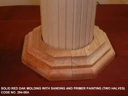 solid red oak molding and panel with v grooved for roman column