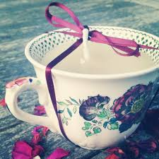 tea cup candle diy vintage teacup candle forget me not vintage
