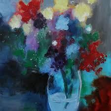 Acrylic Flower Vases Shop Abstract Vase Painting On Wanelo