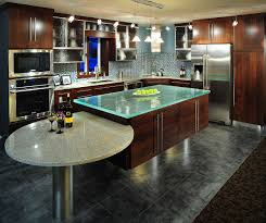 Modern Granite Dining Table by Enchanting Modern Style Kitchen Cabinets Showcasing Rectangular