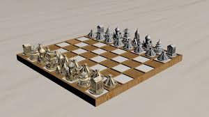 Chess Board Design Architectural Chess Sets Digital Model U0026 3d Printing Design Ideas