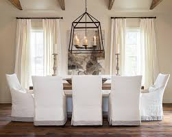 Slip Covers Dining Room Chairs Cottage And Vine Slip Covered Dining Chairs Dining Rooms