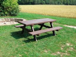 contemporary picnic table recycled plastic rectangular for