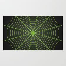 Neon Area Rug Neon Green Spider Web Rug Neon Green And Spider Webs
