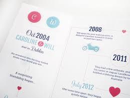 wedding invitations kildare creativejuice timeline wedding invitations