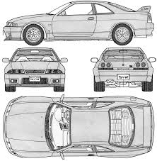 nissan skyline drawing car blueprints nissan skyline r33 gt r blueprints vector
