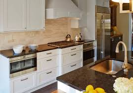 Transitional White Kitchen - transitional white kitchen with decorative wood hood in highland