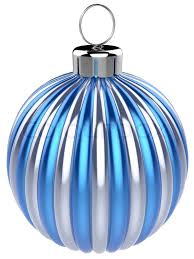 new years bauble decoration blue silver