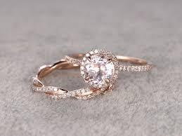 morganite bridal set morganite wedding ring set best 25 morganite engagement rings