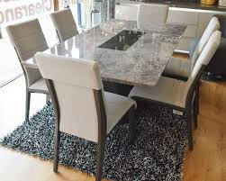 lyon dining table plus 6 chairs u2013 plush furnishers ltd