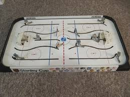 Table Top Hockey Game 1982 Coleco Stanley Cup Table Top Hockey Game With Canucks And