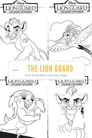 unleash the power with these great the lion guard coloring pages