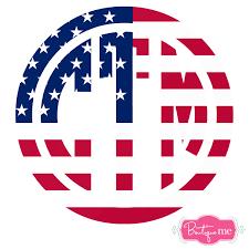 monogram decals american flag usa monogrammed vinyl sticker decal boutique me