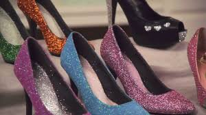 learn with joann how to embellish shoes with glitter paint