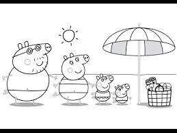 peppa pig family beach coloring book coloring pages kids