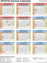 calendars 2015 2016 as free printable excel templates