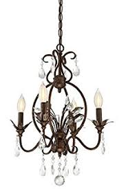 Bronze Chandelier With Crystals Iron Leaf 4 Light Roman Bronze And Crystal Chandelier Universal