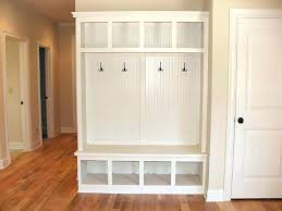 mudroom storage cabinets tall mudroom cabinet with cushioned bench