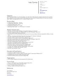 Athletic Resume Template Resume Sponsorship Resume