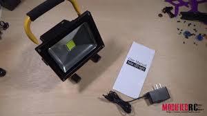 battery powered work lights 20 watt battery powered led work light review youtube