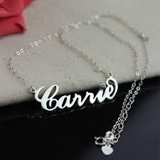 chain with name carrie name necklace with birthstone sterling silver