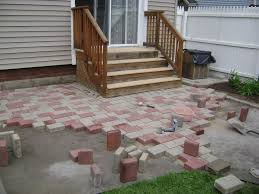 Build Paver Patio Lovely Decoration Building A Paver Patio Pleasing How Much Does It