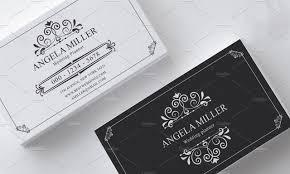 Business Card Invitation Elegant Vintage Business Card Business Card Templates Creative