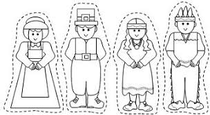 Thanksgiving Pilgrims And Indians Pilgrim And Native American Stic