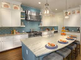 white kitchen cabinets with blue tiles white kitchen cabinets with blue subway tile backsplash
