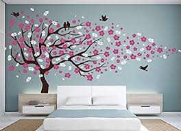 vinyl wall decal cherry blossom flower tree wall decal