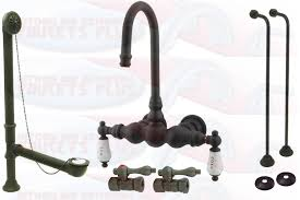 Antique Bronze Bathroom Faucet by Kingston Brass Cck3t5 Oil Rubbed Bronze Clawfoot Tub Faucet Kit