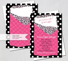 sleepover party invites sleepover party invitation pink leopard print sleeping bag
