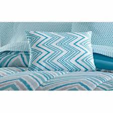Queen Bed Sets Walmart Mainstays Watercolor Chevron Bed In A Bag Bedding Set Walmart Com