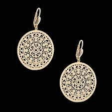 filigree earrings 18kt gold layered filigree fashion earrings oro laminado