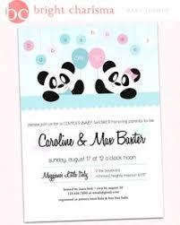 Panda Baby Shower Invitations - cute panda it u0027s a baby shower invitations panda bear baby