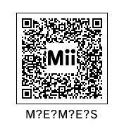 Meme Qr Code - use this mii in splatoon for vertical memes splatoon