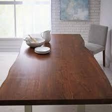 Cast Trestle  Dining Table Live EdgeAntique Brass Trestle - Trestle kitchen tables