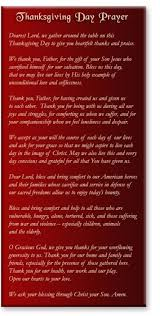 thanksgiving prayer conservegan
