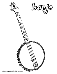 country music banjo coloring pages free downloads
