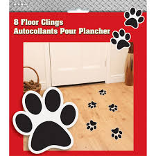 fire truck halloween basket paw print floor clings dog party decorations
