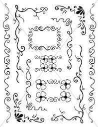 svg corners ornamental corbels flourish borders digital