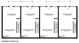 2 bedroom basement floor plans economical multi family dwelling house plan hunters