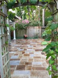 bluestone stamped concrete patio houzz