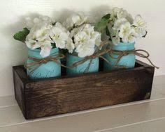 Ball Jar Centerpieces by Mason Jar Planter Planter Box With Painted Mason Jars Rustic